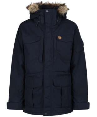 Men's Fjallraven Yupik Waterproof Parka - Dark Navy