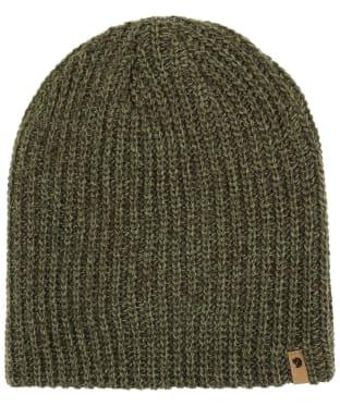 Men's Fjallraven Övik Melange Beanie Hat - Dark Olive