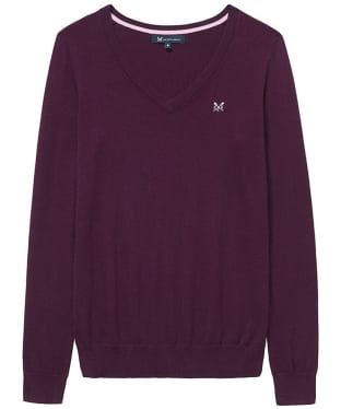 Women's Crew Clothing Foxy V-Neck Sweater - Aubergine
