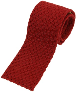 Men's Schöffel Knitted Tie - Brick