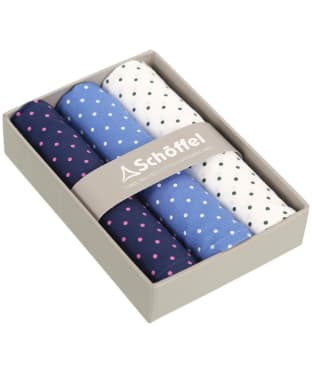 Men's Schöffel Handkerchiefs, pack of 3 - Navy / Denim / White