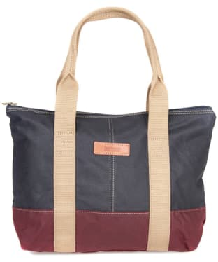 Women's Barbour Ashridge Small Tote Bag - Navy / Red