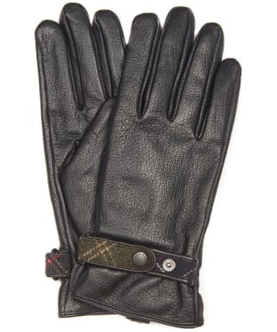Women's Barbour Goatskin Leather Gloves - Black