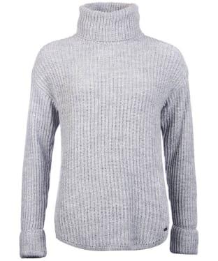 Women's Barbour Hall Roll Collar - Light Grey Marl