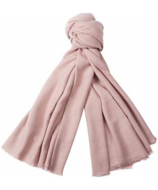 Women's Barbour Waffle Textured Scarf - Soft Pink