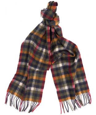 Women's Barbour Lambert Plaid Scarf - Olive / Gold