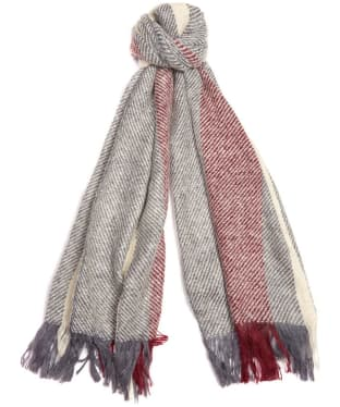 Women's Barbour Munro Scarf - Grey / Red