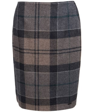 Women's Barbour Nebit Pencil Skirt - Emerald Winter Tartan