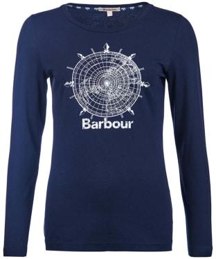 Women's Barbour Shipper Tee - Dark Navy