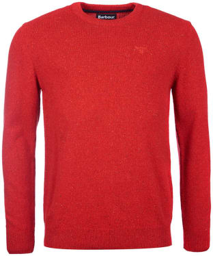 Men's Barbour Tisbury Crew Neck Sweater - Rich Red