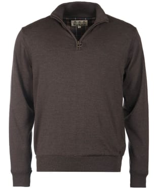 Men's Barbour Gamlin Half Zip Waterproof Sweater - Rustic