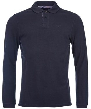 Men's Barbour Long Sleeved Sports Polo Shirt - Black