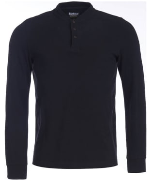 Men's Barbour International Jump Long Sleeve Polo Shirt - Black