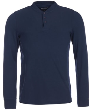 Men's Barbour International Jump Long Sleeve Polo Shirt - Navy