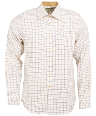 Men's Barbour Field Tattersall Shirt - Classic collar - Rich Red