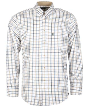 Men's Barbour Sporting Tattersall Shirt - Long Sleeve - Blue