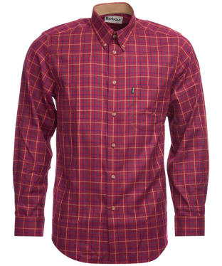 Men's Barbour Sporting Tattersall Shirt - Long Sleeve - Ruby