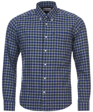 Men's Barbour Moss Check Shirt Tailored Fit - Green Check