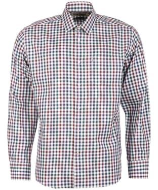 Men's Barbour Lawton Check Shirt - Plum Check