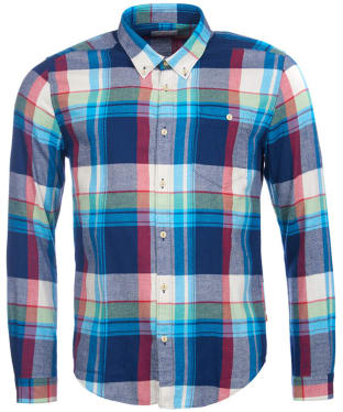 Men's Barbour Heritage Leith Shirt - Navy Check