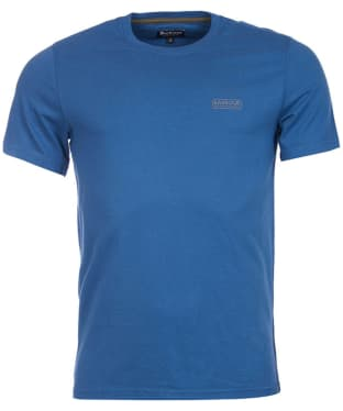 Men's Barbour International Small Logo Tee - Mid Blue