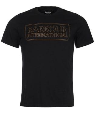 Men's Barbour International Line logo Tee - Black
