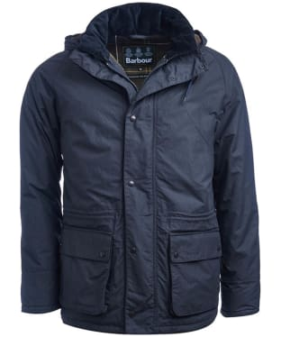 Men's Barbour Woodfold Waterproof Jacket - Navy