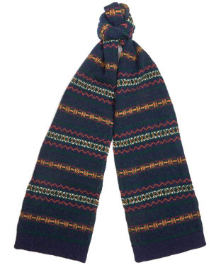 Barbour Martingale Fairisle Scarf - Navy / Green