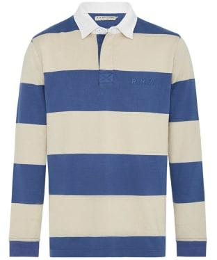 Men's R.M. Williams Tweedale Rugby Shirt - Bone / Blue