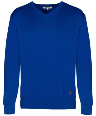 Men's Dubarry Carson V-neck Sweater - Cobalt Blue