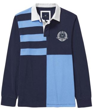 Men's Crew Clothing Quarter Rugby Shirt - Navy / Sky