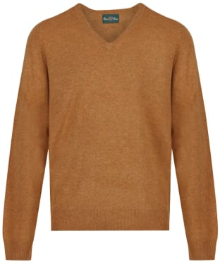 Men's Alan Paine Burford V-neck Pullover Sweater - Gazelle
