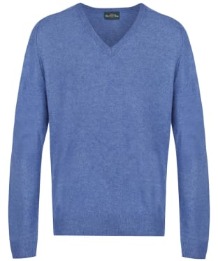 Men's Alan Paine Burford V-neck Pullover Sweater - Mariner Blue