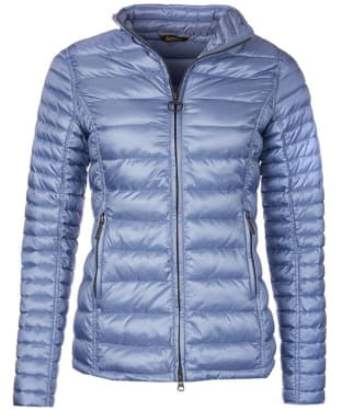 Women's Barbour Clyde Short Baffle Quilted Jacket - Cool Blue