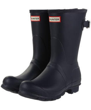 Women's Hunter Original Back Adjustable Short Wellingtons - Navy