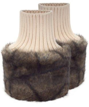 Women's Dubarry Carton Faux Fur Cuffs - Elk