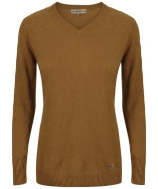 Women's Dubarry Blackwater V-Neck Sweater - Mustard