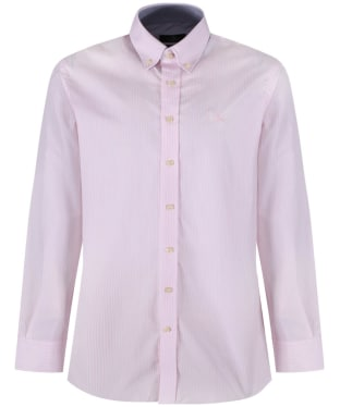 Men's Hackett Classic Fine Stripe Shirt - White / Pink