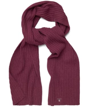 Men's GANT Cotton Wool Scarf - Purple Wine
