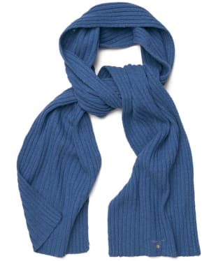 Men's GANT Cotton Wool Scarf - Hurricane Blue