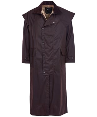 Men's Barbour Stockman Waxed Coat - Brown