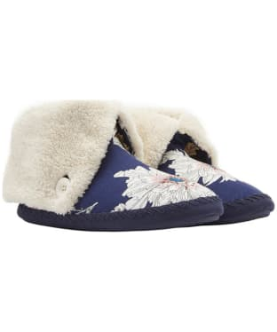 Women's Joules Potter Slippers - French Navy Peony