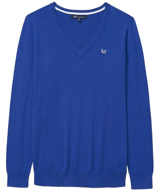 Women's Crew Clothing Foxy V-Neck Sweater - Bright Blue