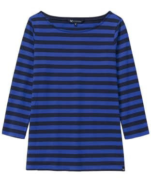 Women's Crew Clothing Ultimate Breton Top - Bright Blue / Navy