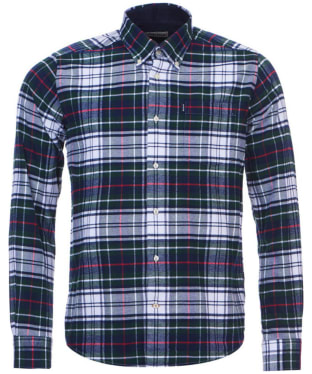 Men's Barbour Castlebay Check Shirt - White Check