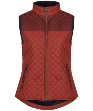 Women's Jack Murphy Kris Quilted Gilet - Red Brick
