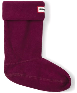 Hunter Kids New Fleece Welly Socks - Violet