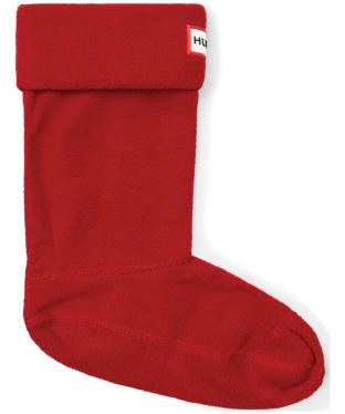 Hunter Kids New Fleece Welly Socks - Military Red