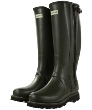 Men's Hunter Field Commando Full Zip Wellington Boots - Dark Olive