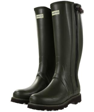 Men's Hunter Field Commando Full Zip Wellington Boots - Dark Olive